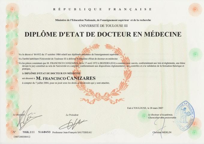Diplôme d'état de docteur en médecine